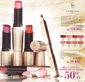 Dapatkan Lipbrush separuh harga jika kamu beli satu buah Lipstik